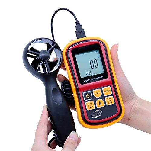 Probador Digital portátil de Velocidad del Aire anemómetro, medidor de Viento, Rango...