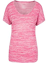 Mountain Warehouse Drape Melange Womens Tee - 100% Cotton Summer Top, Durable Ladies Blouse, Easy Care Tshirt, Wicking Tee - For Gym, Camping & Casual Use