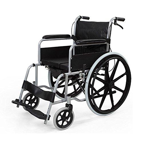 QXMEI Sillas De Ruedas Plegables Ligeras Multifuncionales Para Personas Mayores Taburetes Discapacidad Aluminio Aleación Carros Sillas De Ruedas,B