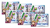 Craze 17142 - Disney Frozen 3D Slap Snap Bands, 6 Foilbags, sortiert