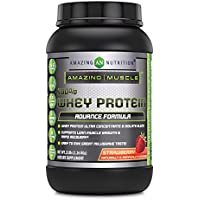 Amazing Muscle 100% Whey Protein Ultra Concentrate & Isolate Blend Strawberry 2 lbs