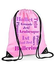 Bolsa de ballet, Ballet Bolsa De Texto, las niñas Rosa Bolsa, Bolsa de PE niña, en la escuela Kit bolsa, a prueba de agua bolsa