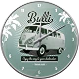 Nostalgic-Art 51057 Volkswagen VW Retro Bulli, Wanduhr, 31 cm