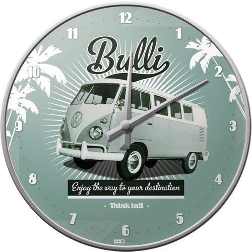 Nostalgic-Art 51057 Volkswagen - VW Retro Bulli, Wanduhr 31cm Vw Bus Uhr