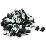Clip de lazo de cable adhesivo - TOOGOO(R) 100 piezas clip de lazo