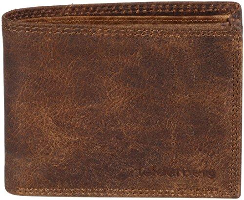 """""""Kenny"""" Querformat -Washed-Vintage Geldbörse aus geöltem Hunterleder/ Scheinfächer aus Leder! Tobacco II"""