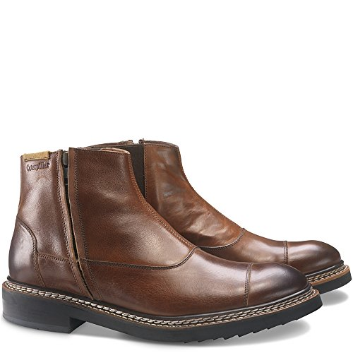 Caterpillar Men's Adner Ankle Boot,Rust Full Grain Leather,US 8 M (Heel Stiefel Stacked)