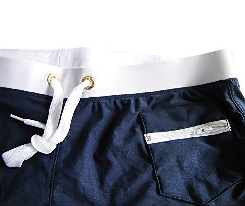 Mangotree Wassersport Schwimmen Trunks Slips Badeshorts Herren Badehose Jungen Boardshorts mit Reißverschlusstasche Navy Blau