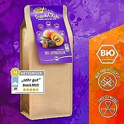 ✅ Bio getrocknete Aprikosen Früchte 1kg ohne Stein aus der Türkei (Trockenfrüchte/Trockenobst), getrocknet, ohne Zucker, ungeschwefelt, Bio und Rohkost-Qualität, sonnengetrocknet