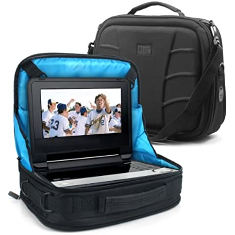 USA Gear Soporte Funda Tablet o DVD para el Coche, Para Lenovo Tablet 2-X30 F Tablet Fire BQ Aquaris M10 Samsung Galaxy Tab A iRULU eXpro Plus WeVool NEMESIS Chuwi Hi12 Lenovo Tab 2 y