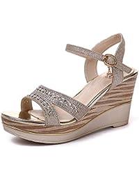 LBTSQ-temperamento sandali con tacchi alti bocca di pesce scarpe fondo piatto china muffin scarpe spesso sotto le scarpe donne alla moda.Thirty-seven