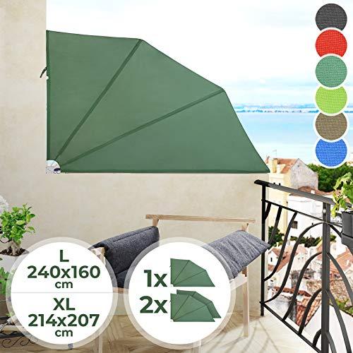 Jago Balkonmarkise - Farbwahl, in Verschiedenen Größen, 1er/2er - Seitenmarkise, Senkrechtmarkise, Sonnenschutz, Sichtschutz, Markise