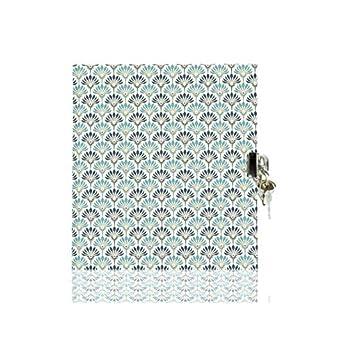 Tagebuch mit Schloß für Kinder | kleines blanko Schreibbuch für Mädchen und Jungen | handgemacht | 50 Blatt als 100 Seiten cremeweißes Schreibpapier | Perfekt für Notizen, Geschichten und Geheimnisse