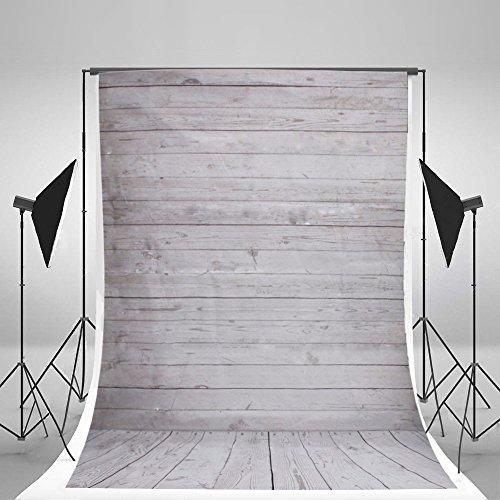 Fotostudio Weiße Holzoptik Holzboden Thema Fotohintergrund, Hintergrund-Hintergrundstoff für Fotografie, Video und Fernsehen - 1.5 x 2.1 M