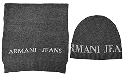 Armani Jeans Hat & Scarf Gift Set - S937503 - Grey