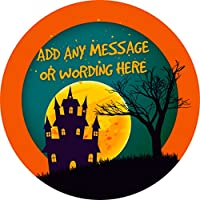 Halloween Sticker Labels Personalised Seals Ideal for Party Bags, Sweet Cones, Favours, Jars, Presentations Gift Boxes, Bottles, Crafts