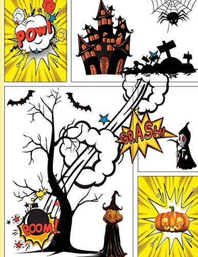 Blank Comic Book Next Generation Trick or Treat Halloween Gift: Draw Your Own Halloween Comics, Any creativity you want, Large Big 8.5