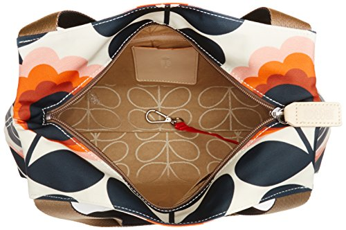 Orla Kiely Summer Flower Stem Classic Borse a Tracolla donna Multicolore (Sunset)