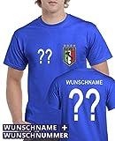 Comedy Shirts - WM 2014 - Italien - Wunsch - Herren T-Shirt - Royalblau Gr. L