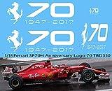1/18 Ferrari SF70H Anniversary Logo 1947 2017 70 Years 2017 Decals TB Decals TBD350