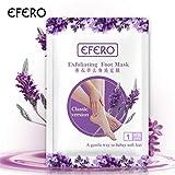 KUKICAT 3er Lavendel Fußmaske zur Hornhaut Entfernung - Anti Hornhaut Socken als Fuß Peeling Maske - Fussmaske Top Ergebnisse in 3-7 Tagen - Fußpeeling Maske für Hornhautentfernung Foot Mask