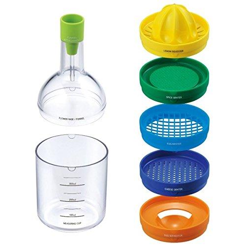 Bottiglia magica utensili da cucina set da 8 accessori utili in cucina. MWS