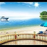SQBZOP Paisaje de palma personalizado para hoteles, gran mural, sala de estar, papel tapiz, fondo, tela, papel pintado, paredes, 150 cm * 105 cm