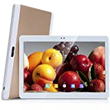 4G LTE 10 Pouces Tablette tactiles Octa Core,4 Go de RAM, Disque dur 64 Go, 4G Double sim Phablette GPS 10-Or
