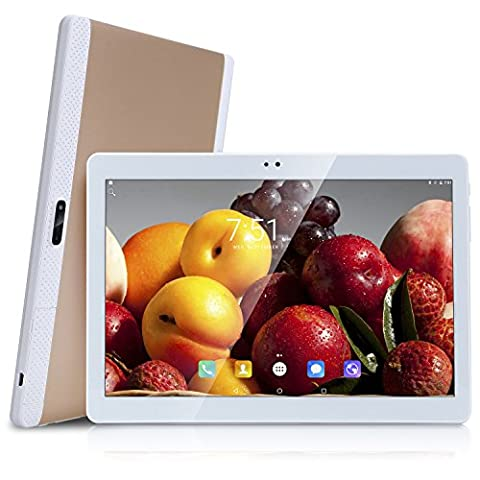 'Newest Android 6.025,54cm 4g LTE Network 10Zoll (10,1) Tablet PC Octa Core 4G Dual Sim Card Phone Call Tablets GPS 10Gold