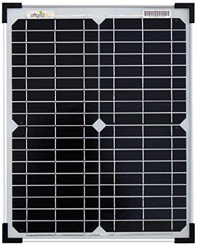 20W/12V panel solar con células solares monokristallinen. ideal para sistemas de 12V (por ejemplo, caravanas, barcos, casas de jardín, etc.) Características Importantes monokris-Line paneles solares 1diodo bypass-minimierter Potencia residuos...