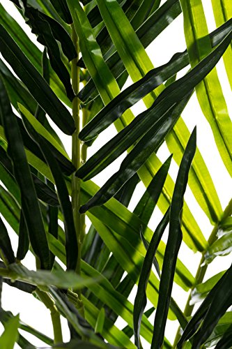 Sarah B XXL Areca Palme. Farnpalme, Kokospalme JWS2255 Riesige künstliche grüne Areca Palme, Farnpalme 140 cm hoch, Kunstpflanze, Kunstblume, Kunstbaum, Zimmerpflanze künstlich