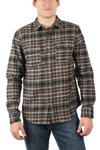 Omit - - Männer Abandon Woven Shirt in Dunkelbraun Dark Brown