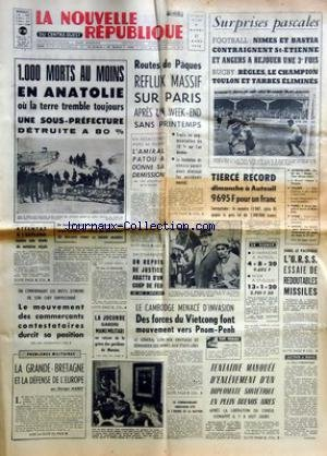 NOUVELLE REPUBLIQUE (LA) [No 7764] du 31/03/1970 -...