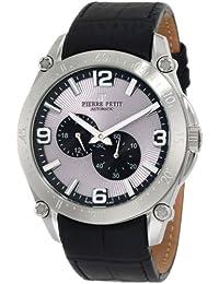 Pierre Petit Herren-Armbanduhr XL Le Mans Analog Automatik Leder P-804A