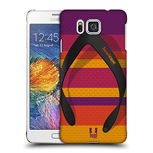 Head Case Designs Streifen Flip Flops Ruckseite Hülle für Samsung Galaxy Alpha (Alpha Flip-flops)