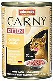 animonda Carny Kitten Katzenfutter, Nassfutter für junge Katzen, aus Geflügel (6 x 400 g)