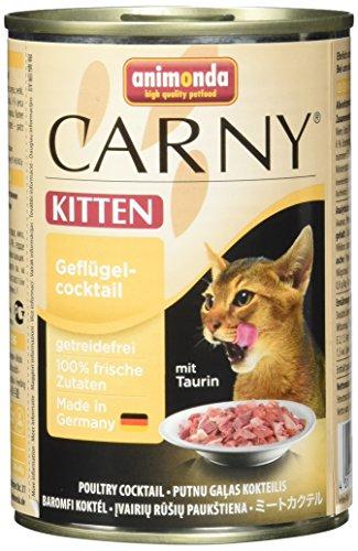 Animonda Carny Kitten Katzenfutter, Nassfutter für Junge Katzen, aus Geflügel (6 x 400 g) (Ie Natürliches 400)