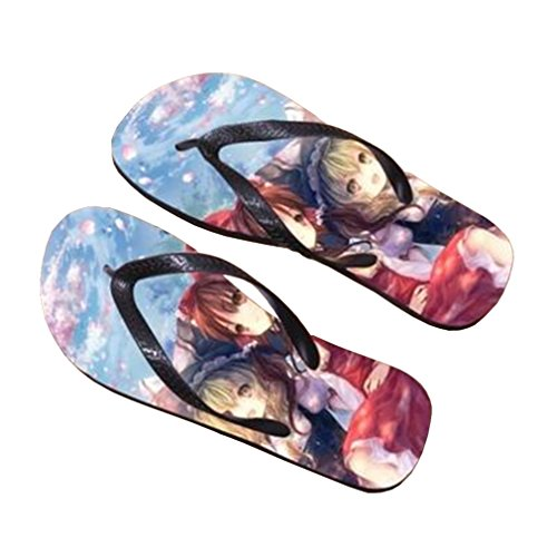 Bromeo TouHou Project Anime Unisex Flip Flops Zehentrenner Flip Pantoffeln 754