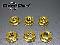 Drilled Honda Cbr400RR Nc29 Gullarm 1993 x6 Titanium Rear Sprocket Nuts Gold