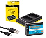 2in1-SET für die Sony Alpha 6000 und Alpha 5000 --- ERENBACH High-Performance Akku (1030mAh) + Dual Ladegerät (laden Sie 2 Akkus via USB-Anschluss auf einmal)