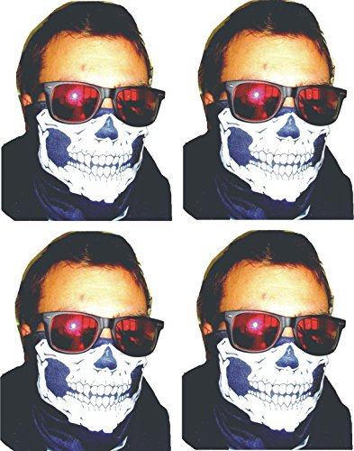 4 X Totenkopf Halstuch Skull Snowboard Ski Tuch 4-farben (Rocker Kiefer)