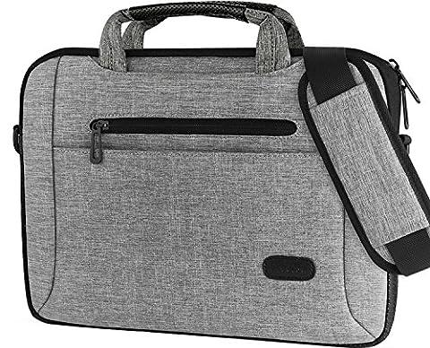 """Procase 14-15,6 Zoll-Laptop-Beutel-Aktenkoffer -Kurier-Schulter-Beutel-Hülsen-Kasten für 15 """"Macbook Pro 14 15 15,6 Zoll Laptop Notebook Ultrabook MacBook Chromebook Computer -Grau"""