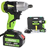 Cordless Impact Wrench 1/2 Inch Driver kit with 6000mAH Li-ion Battery 460Nm Max