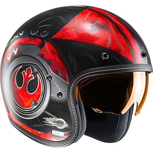 HJC FG-70S Star Wars Poe Dameron Red Moto Rider Scooter Touring Casco da Moto Aperto, M