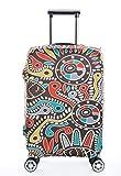 Il copri valigia in spandex è un oggetto divertente che ha molto senso 1.Questa cover aiuterà a proteggere il vostro prezioso bagaglio da bozzi e graffi ed il prodotto stesso è lavabile. 2.Adorerete il design con colori sgargianti, e sicuramente si f...