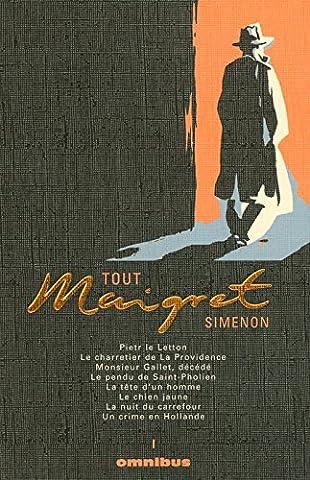 Simenon Maigret - Tout Maigret, Tome 1 : Pietr le