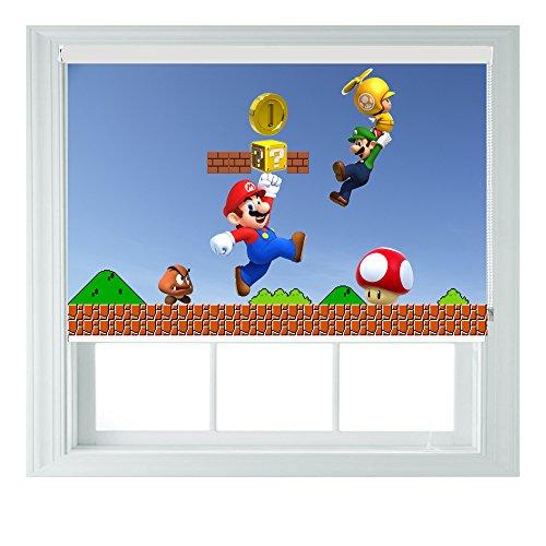 Mario Bros estilo enrollables de varios tamaños negro Out para dormit