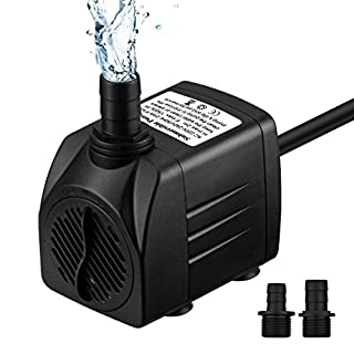 VicTsing Submersible Water Pump, 400Gph 1500L/H Ultra-Quiet Fountain Water Pu mp Withstands 48 Hours Dry Burning, Replacement Pu mp For Pet Fountains/Pond/Aquarium/Fish Tank/Statuary/Hydroponics