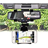 ICEBERG MAKERS.IN Universal 360 Degree Rotation Car Rearview Mirror Mount Holder Stand Cradle For All Mobile Cell Phone GPS