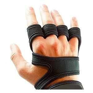 MrMarrah Fitness Handschuhe Universal Farbe Schwarz Größe S, M, L, XL, XXL mit Handgelenk Unterstützung